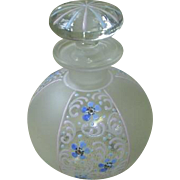 Czechoslovakia Hand enameled perfume bottle