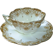 Shelley Wileman cup & saucer, elegant florals