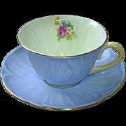 Shelley Blue Oleander cup & saucer