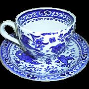 "Burleigh, England ""Bluebird"" cup & saucer"