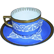 Darlin' Demitasse set; lace overlay