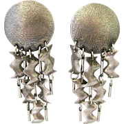 Sorrelli Outrageous Silver Tone Dangle Clip Earrings
