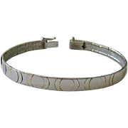 Sterling Silver 925 Flexible Bangle Bracelet Italy