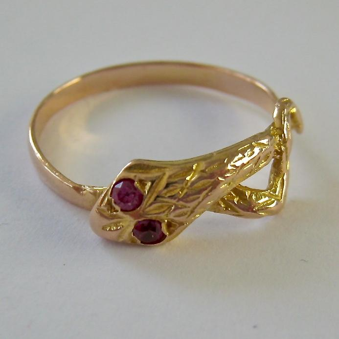 14k gold snake ring ruby from susabellas on ruby