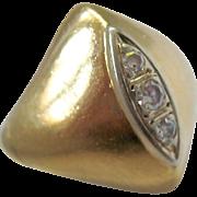 Bold 18K Gold Diamond Ring Impressive