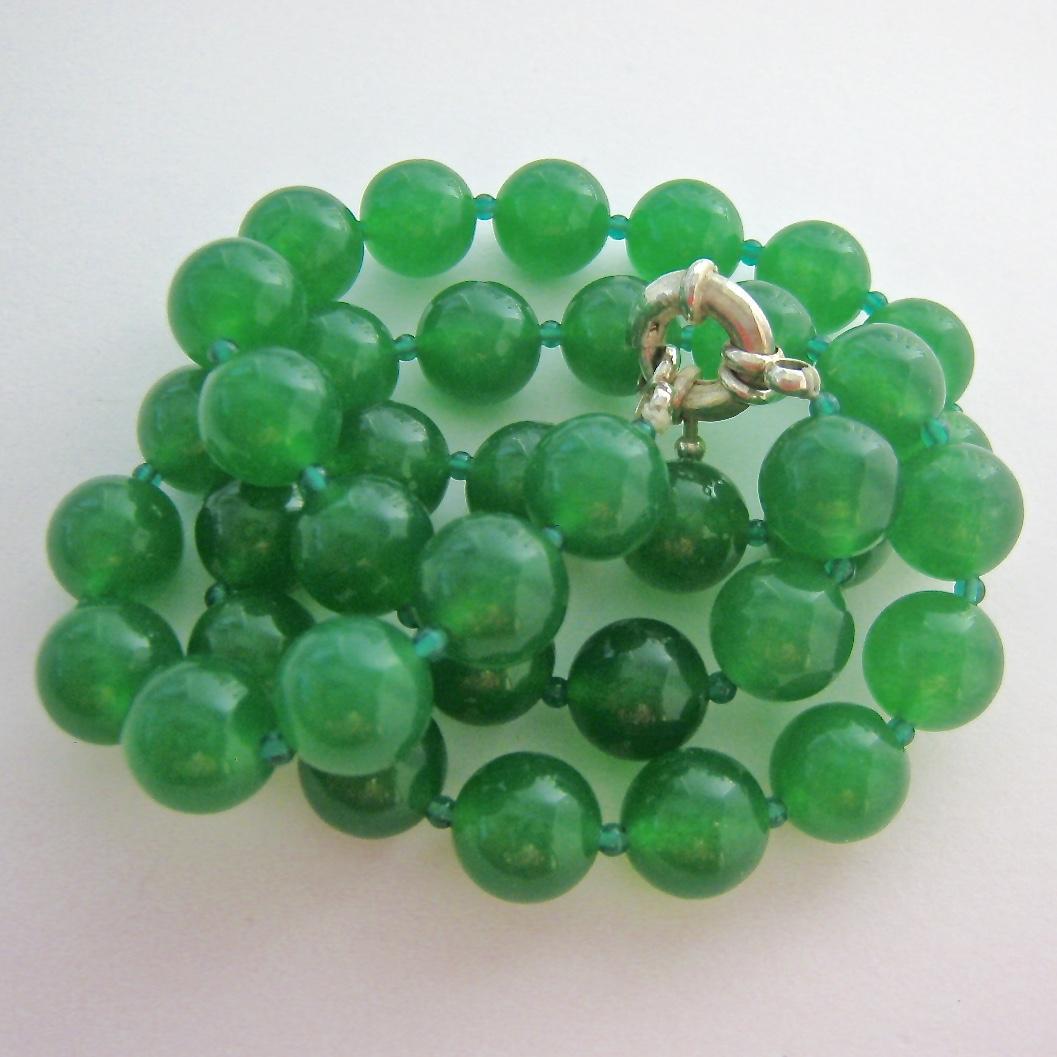 50 Sale Translucent Emerald Green Gemstone Bead Necklace