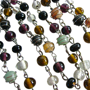 Caged Gemstone & Glass Bead Necklace Endless