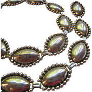 Sterling Silver 925 Concho Style Necklace Circa 1940-50's