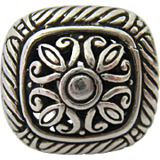 Sterling Silver 925 Ornate Chunky Ring