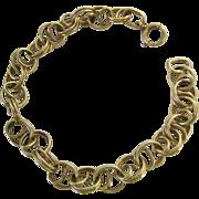 Interesting Vintage 12K Gold Filled Bracelet