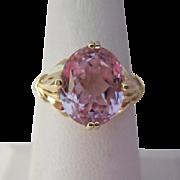 14K Gold Kunzite Ring Size 8