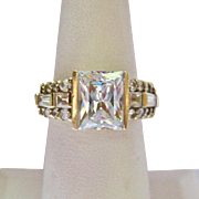 Dazzling 14K Gold CZ Multi-Stone Ring