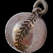 Vintage Sterling Silver 925 Baseball or Softball Charm