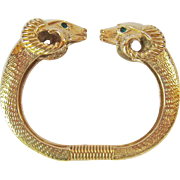 Kenneth Jay Lane KJL Ram Head Clamper Bracelet