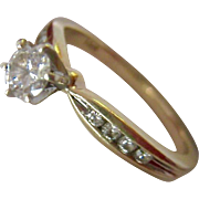 14K Gold Diamond Ring .2 ct One Fifth Carat