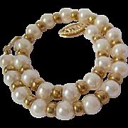 14K Gold & Cultured Pearl Bracelet