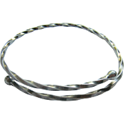 Towle Sterling Silver 925 By-Pass Bangle Bracelet Twisted Design