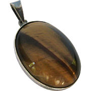 Sterling Silver 925 Tiger Eye Pendant Israel