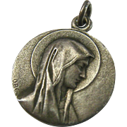 Catholic Medal Charm Pendant Virgin Mary Lourdes St Bernadette Vision