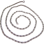 Sterling Silver 925 Spiral Link Chain Necklace 24 Inches