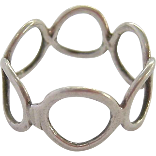 Sterling Silver 925 Open Circles Ring