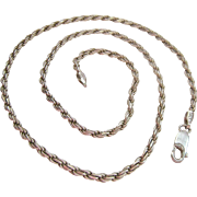 Sterling Silver 925 Rope Chain 18 inches 12.0 Grams Italy
