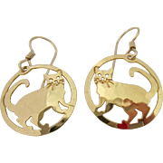 Wild Bryde 14K Gold Plated and Gold Filled Cat Earrings