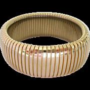 Vintage Wide Gold Tone Expansion Bracelet