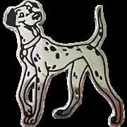 Sterling Silver 925 Enamel Disney Dog Brooch