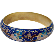 Cobalt Cloisonne Bangle Bracelet