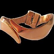 Renoir Copper Clamper Bracelet Simple Flowing Design