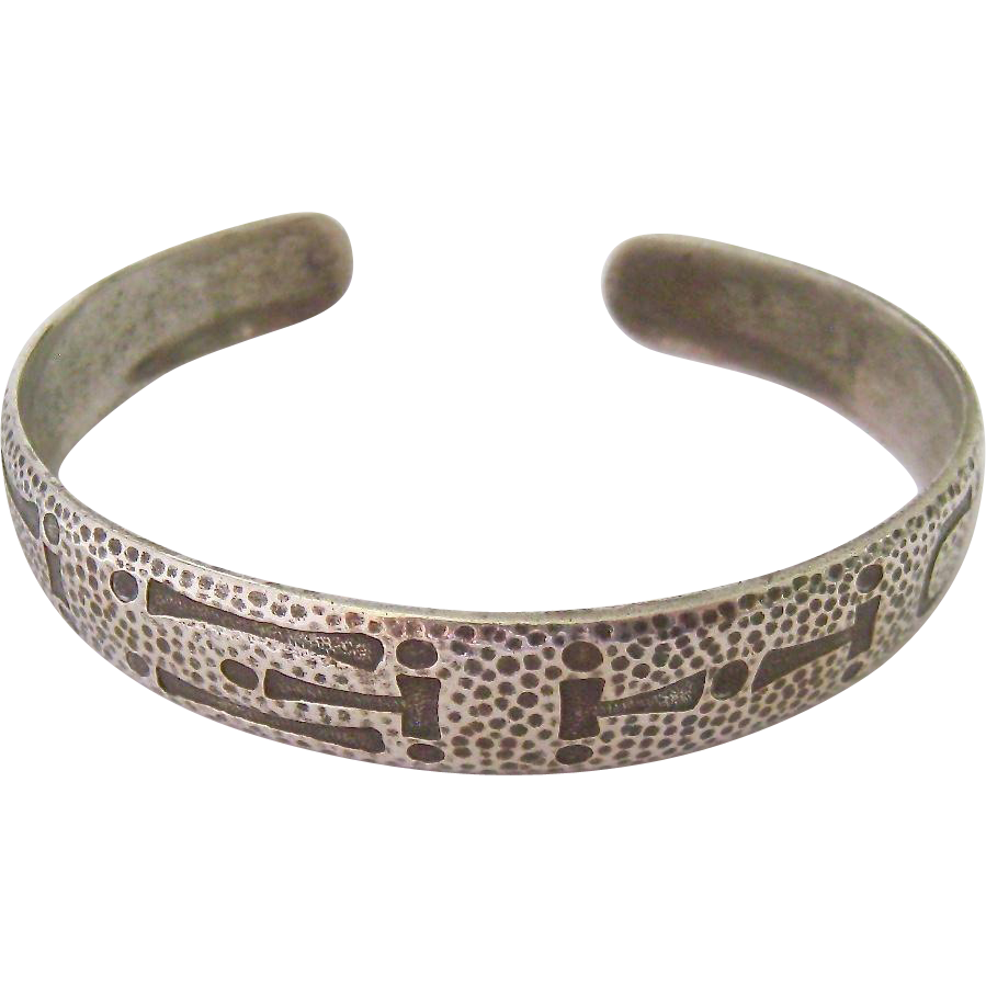 Sterling Silver 925 Cuff Bracelet Signed From Susabellas