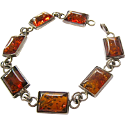 Sterling Silver 925 Amber Bracelet