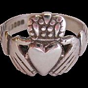Sterling  Silver 925 Claddagh Ring Made in Ireland Irish Hallmarks