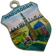 Enamel 835 Silver Charm Madurodam The Netherlands Dutch Hallmarks Signed SB