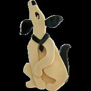 Lea Stein Paris Pouf Dog Brooch