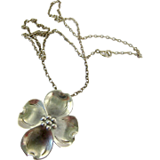 Nye Sterling Silver 925 Dogwood Blossom Pendant necklace
