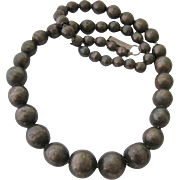 Old Sterling Silver 925 Graduated Bead Necklace