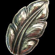 Sterling Silver 925 Leaf Pin Denmark Signed John Lauritzen