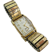 Vintage Lord Elgin 670 21 Jewels 14K Gold Filled Watch 1950's Working