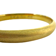 Marathon 12K Gold Filled Hinged Bangle Bracelet with Inscription