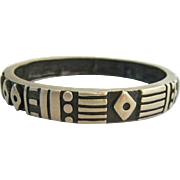 Impressive Lisa Jenks Sterling Silver Bangle Bracelet