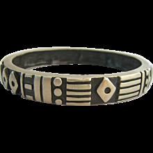 50% SALE Impressive Lisa Jenks Sterling Silver Bangle Bracelet