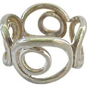 Sterling Silver 925 Ring Nested Open Circles