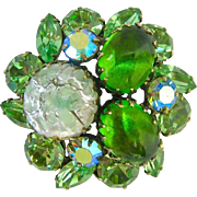 Regency Shades of Green Brooch