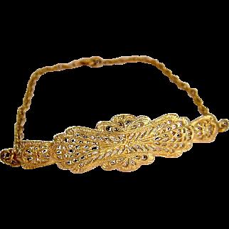 Gold Filled Lacy Filigree Bracelet