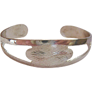 835 Silver Cuff Bracelet with Open Work