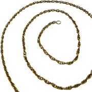 14K Gold Rope Chain Necklace 18 Inches