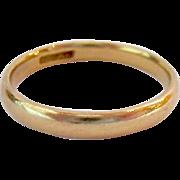 14K Yellow Gold Wedding Band Simple Design 2.9mm