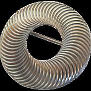 Beau Sterling Silver 925 Round Swirl Brooch